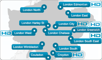 Full list of London Ultrasound Direct locations