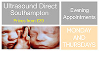 Ultrasound Direct Southampton can now offer evening appointments