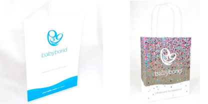 1379bb0961 Babybond bags and colour prints example. BabyBond Gender Reveal Cannon and  Scratchcards