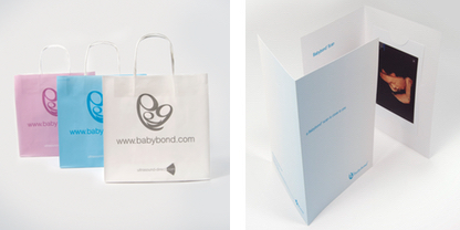 coloured babybond bags and colour prints example